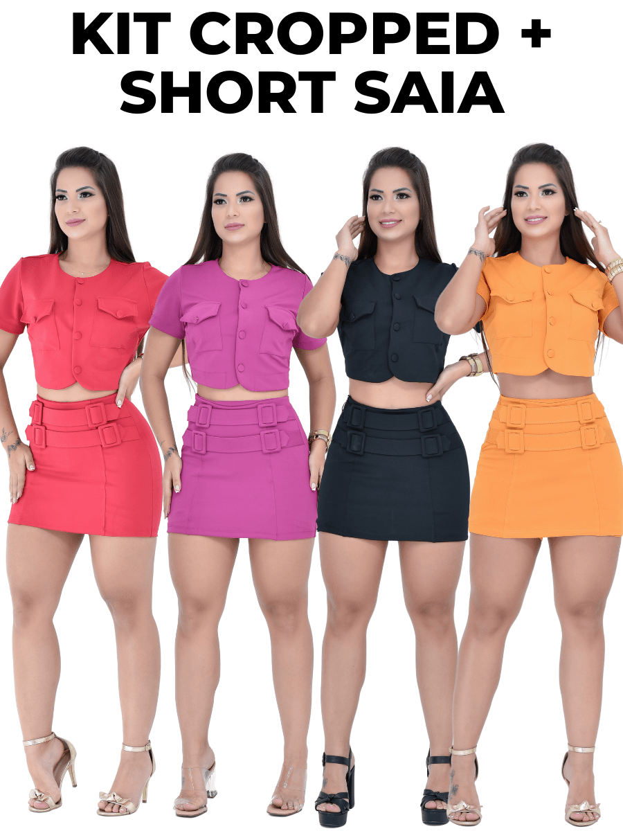 Kit Cropped + Short Saia
